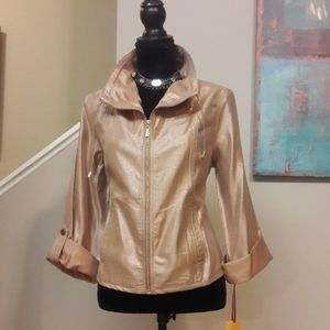 Ruby Rd. Petite/Shimmery Pink/Zip Front Jacket NWT